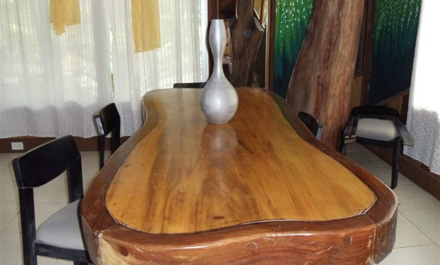 A Dining Room Table Custom Milled On Site Of Nispero And Cacha